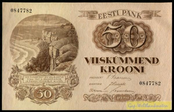 1929 - (Sie sehen ein Musterbild, nicht die angebotene Banknote)