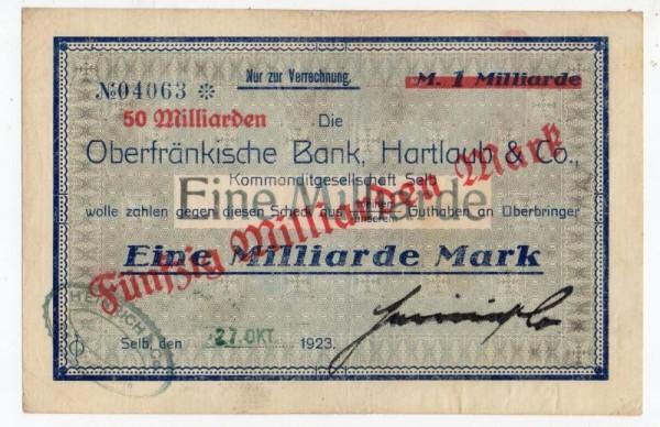 oD, Üdr. a. 1 Mrd. vom 27.10.23 - (Sie sehen ein Musterbild, nicht die angebotene Banknote)