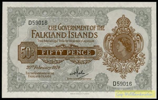 20.2.74 - (Sie sehen ein Musterbild, nicht die angebotene Banknote)