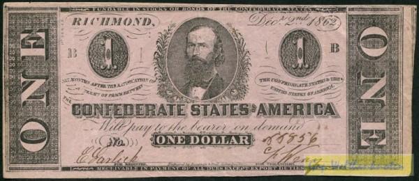 2.12.1862, K&B - (Sie sehen ein Musterbild, nicht die angebotene Banknote)