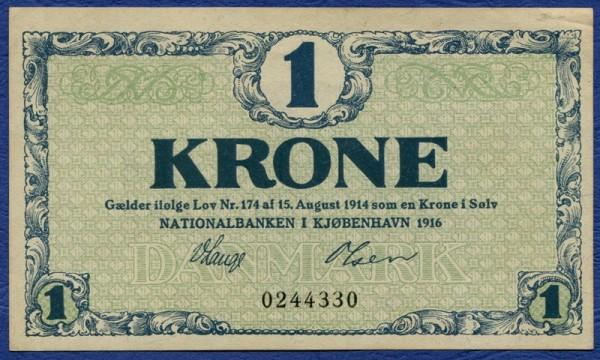 1916, ohne Serie - (Sie sehen ein Musterbild, nicht die angebotene Banknote)
