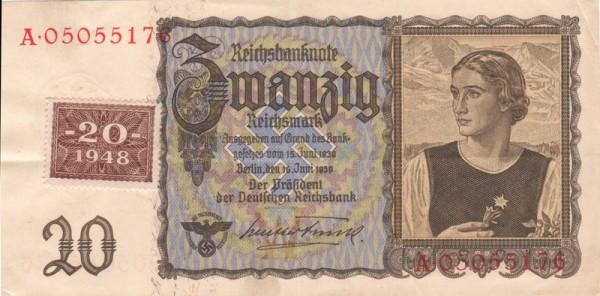 Marke auf 178a - (Sie sehen ein Musterbild, nicht die angebotene Banknote)