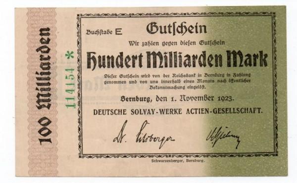1.11.23, Buchstabe E, Wz. Wellenbündel - (Sie sehen ein Musterbild, nicht die angebotene Banknote)