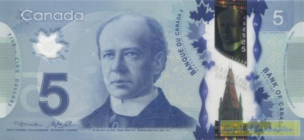 2013, Macklem/Poloz - (Sie sehen ein Musterbild, nicht die angebotene Banknote)