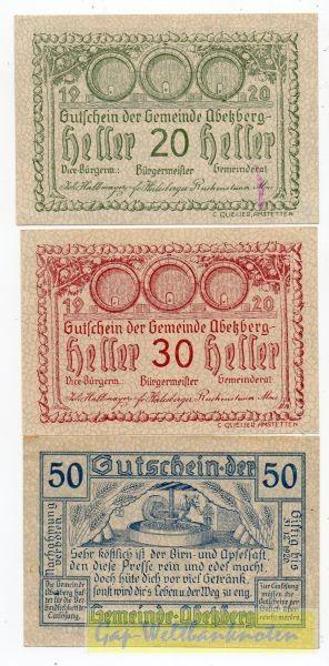 20, 30, 50h, ohne Aufl., ohne GSt., Schraffur voll - (Sie sehen ein Musterbild, nicht die angebotene Banknote)