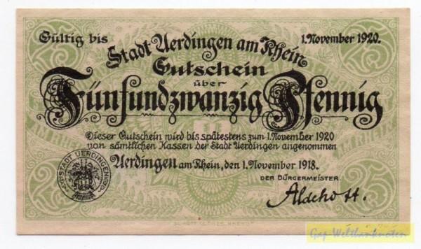 1.11.20, Papier grau, Wz Tropfen - (Sie sehen ein Musterbild, nicht die angebotene Banknote)