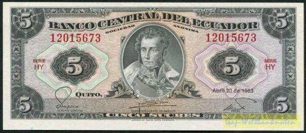 20.4.83, HY - (Sie sehen ein Musterbild, nicht die angebotene Banknote)