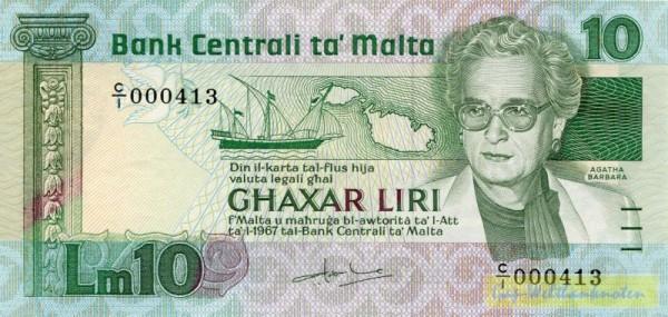 L1967, Agatha Barbara - (Sie sehen ein Musterbild, nicht die angebotene Banknote)