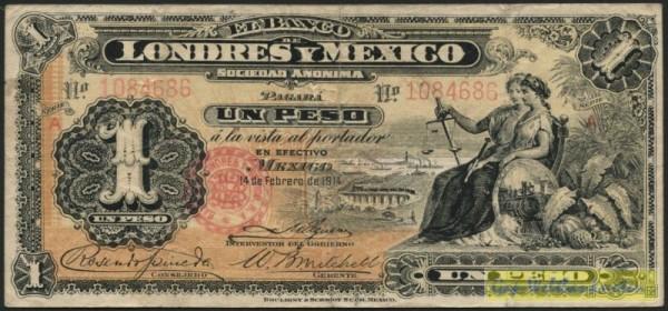 14.2.1914, Grf. - (Sie sehen ein Musterbild, nicht die angebotene Banknote)