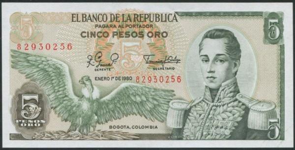 1.1.80 - (Sie sehen ein Musterbild, nicht die angebotene Banknote)