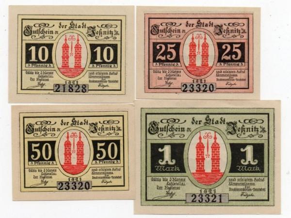 1921, 10, 25, 50 Pf, 1 Mk, KN gedruckt - (Sie sehen ein Musterbild, nicht die angebotene Banknote)