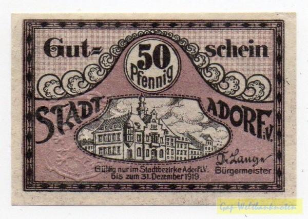 oD Wz Tropfen - (Sie sehen ein Musterbild, nicht die angebotene Banknote)