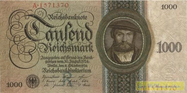 11.10.24, Udr.-Bst. R - (Sie sehen ein Musterbild, nicht die angebotene Banknote)