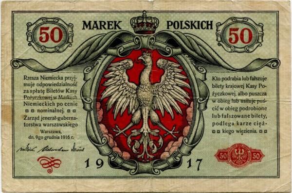 1917 - (Sie sehen ein Musterbild, nicht die angebotene Banknote)