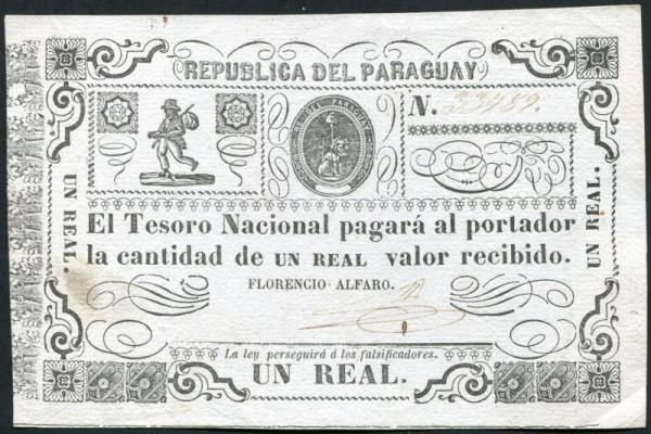 (1865), Fleck, s. I - (Sie sehen ein Musterbild, nicht die angebotene Banknote)