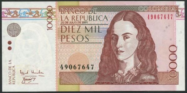 20.7.01 - (Sie sehen ein Musterbild, nicht die angebotene Banknote)
