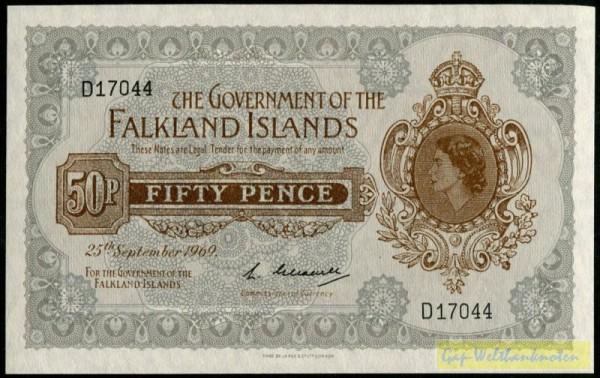 25.9.69 - (Sie sehen ein Musterbild, nicht die angebotene Banknote)