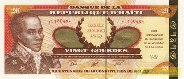 GA (Verfassung), Goldstreifen - (Sie sehen ein Musterbild, nicht die angebotene Banknote)
