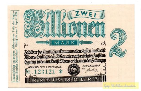 5.11.23., Wz. C-Kreuz-Muster - (Sie sehen ein Musterbild, nicht die angebotene Banknote)