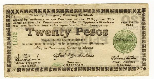 1944, Papier weiß, B3 - (Sie sehen ein Musterbild, nicht die angebotene Banknote)