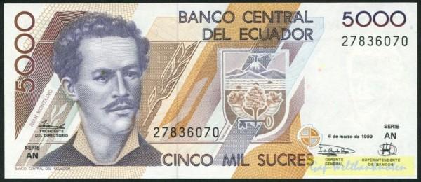 6.3.99, AN - (Sie sehen ein Musterbild, nicht die angebotene Banknote)