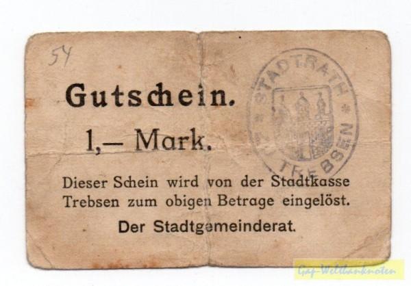 """oD, """"1"""" unter """"Gu"""" - (Sie sehen ein Musterbild, nicht die angebotene Banknote)"""