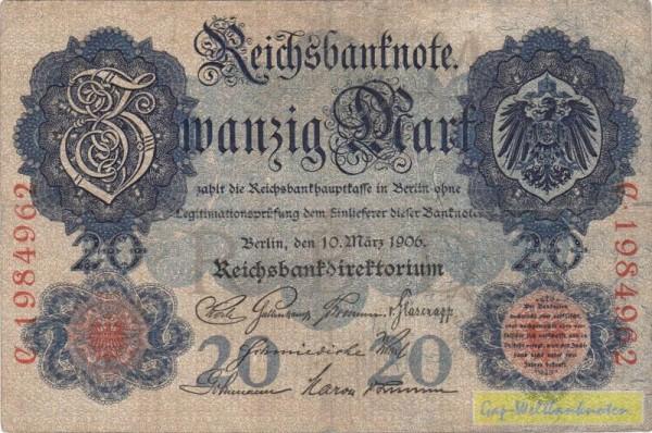 10.3.06, KN 7st - (Sie sehen ein Musterbild, nicht die angebotene Banknote)