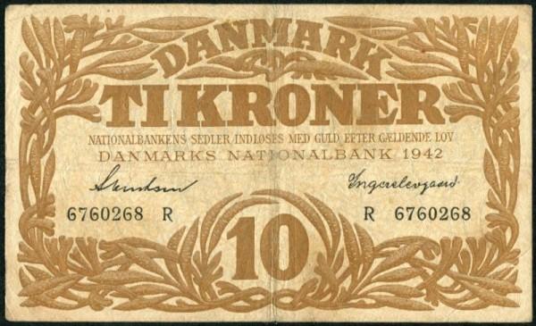 1942R - (Sie sehen ein Musterbild, nicht die angebotene Banknote)