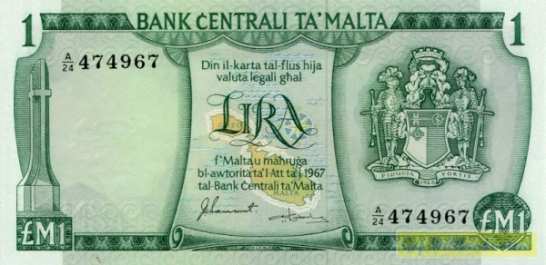 Sammut/Camilleri - (Sie sehen ein Musterbild, nicht die angebotene Banknote)