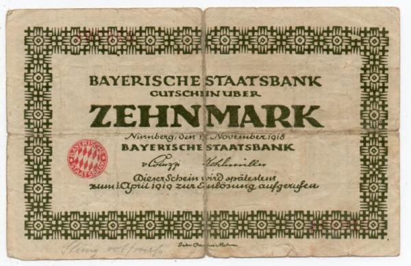 15.11.18, helle Rauten im Siegel weiß, Reihe C, D - (Sie sehen ein Musterbild, nicht die angebotene Banknote)