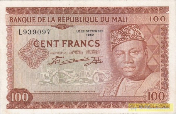 22.9.60 - (Sie sehen ein Musterbild, nicht die angebotene Banknote)