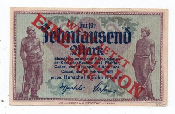 oD, Übdr. auf 10 T - (Sie sehen ein Musterbild, nicht die angebotene Banknote)