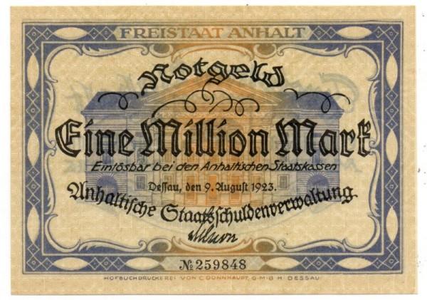 9.8.23, KN 6-stellig - (Sie sehen ein Musterbild, nicht die angebotene Banknote)