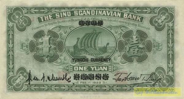 1.2.22, Peking, Üdr. - (Sie sehen ein Musterbild, nicht die angebotene Banknote)