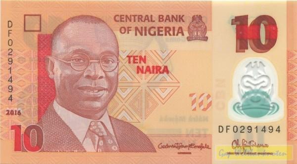 2016, Us. 18 - (Sie sehen ein Musterbild, nicht die angebotene Banknote)