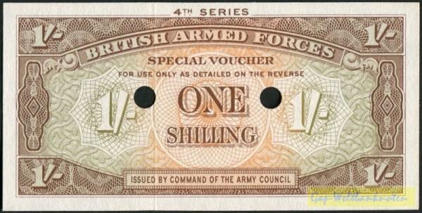 4. Serie, durch 2 Löcher entw. - (Sie sehen ein Musterbild, nicht die angebotene Banknote)