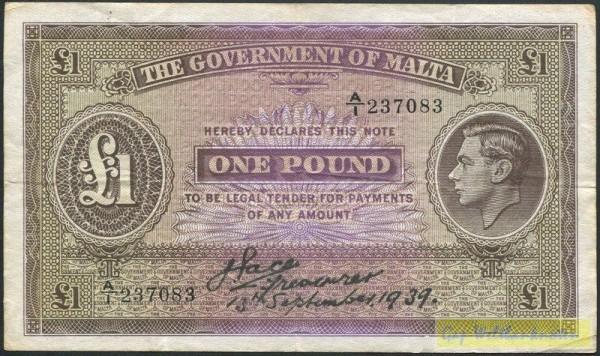 13.9.39 - (Sie sehen ein Musterbild, nicht die angebotene Banknote)