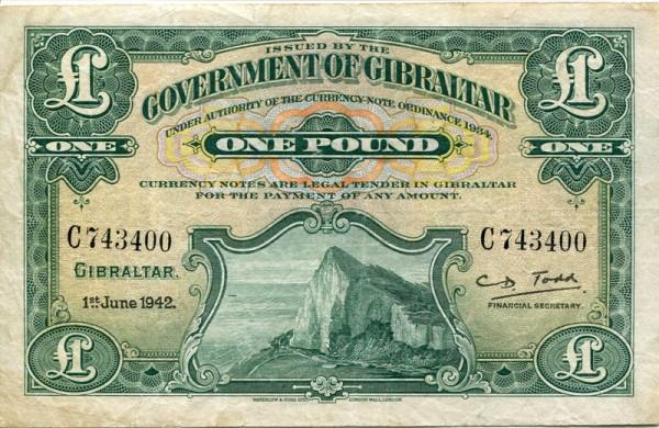 1.6.42 - (Sie sehen ein Musterbild, nicht die angebotene Banknote)