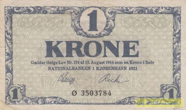 1921 Ø - (Sie sehen ein Musterbild, nicht die angebotene Banknote)