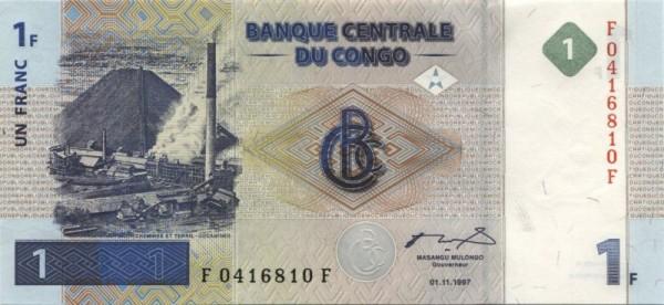 1.11.1997, G&D - (Sie sehen ein Musterbild, nicht die angebotene Banknote)
