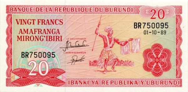 1.10.89 - (Sie sehen ein Musterbild, nicht die angebotene Banknote)
