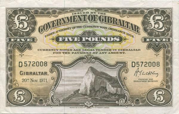 20.11.71 - (Sie sehen ein Musterbild, nicht die angebotene Banknote)
