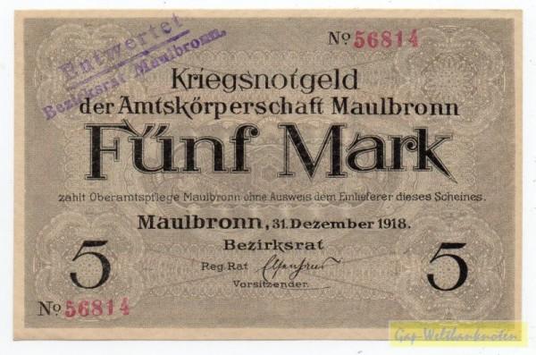 31.12.18, KN rot, entwertet - (Sie sehen ein Musterbild, nicht die angebotene Banknote)