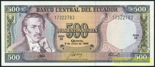 8.6.88, GX - (Sie sehen ein Musterbild, nicht die angebotene Banknote)