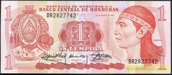 30.3.89 - (Sie sehen ein Musterbild, nicht die angebotene Banknote)
