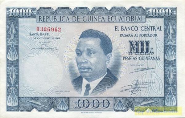 12.10.69 - (Sie sehen ein Musterbild, nicht die angebotene Banknote)