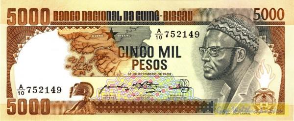 12.9.84 - (Sie sehen ein Musterbild, nicht die angebotene Banknote)