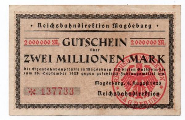 9.8.23, Wz. Rheinische Wellen, 5* KN - (Sie sehen ein Musterbild, nicht die angebotene Banknote)