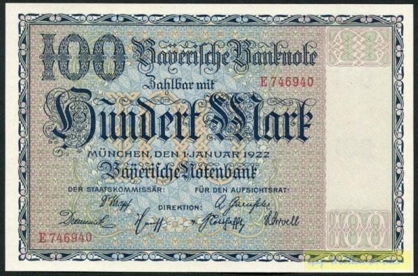 1.1.22 - (Sie sehen ein Musterbild, nicht die angebotene Banknote)