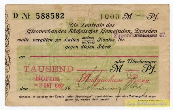 3.10.22, Datum gestempelt - (Sie sehen ein Musterbild, nicht die angebotene Banknote)